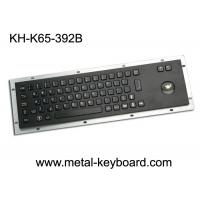 Buy cheap IP65 Anti - vandal Black Industrial Computer Keyboard with Stainless steel Trackball from wholesalers