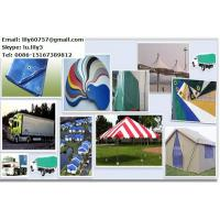 Quality tarpaulin PVC coated fabrics PVDF tent cover with PVDF lacquer for sale