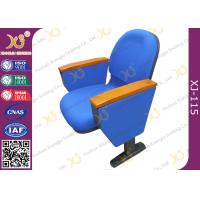Quality Flame retardant Fabric cover Auditorium Chairs with PAD 580mm center distance for audience room for sale