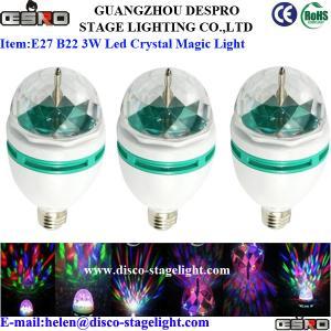Quality E27 B22 3W KTV Disco RGB LED Magic Ball Light Professional Stage Lighting  for sale