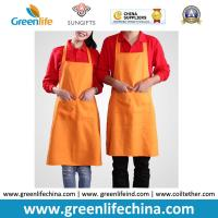 Quality Cooking cotton polyester kitchen girl household women aprons made in China can print logo for sale