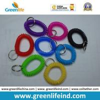 Quality China Best Quality PU Plastic Spiral Wrist Coil Key Chain for sale