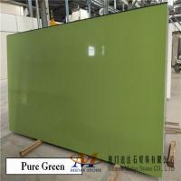 Quality Pure Green Quartz Stone Slabs for sale