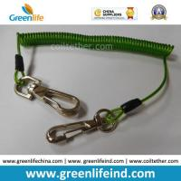 Quality 16cm Length Top Quality Green Tool Coiled Lanyard Holder for sale