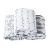 Quality OEM 100% Cotton Baby Swaddle Blankets 2 Layer After Washed 3 Pcs / Box  Packing for sale