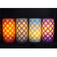 Party decoration  Real Wax Electronic Candles , Carved craft LED candle