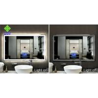 China IP44 Rating LED Lighted Bathroom Mirror Wall Mount Silver Mirror Raw Material on sale