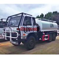 Quality 6x6 Water Tanker Truck For UN 10000 - 12000 Liters Volume Three Axle for sale