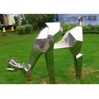 Quality Life Size Animal Deer Stainless Steel Sculpture For Garden Decoration for sale