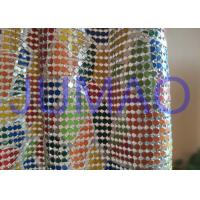 Quality Colorful Drapes Metal Sequin Fabric Anodized Aluminum For Bag / Cloth / Table for sale
