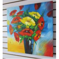 Best Gallery Wrapped Poppy in Vase Painting Canvas Decoration wholesale