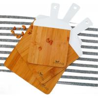 3 Piece 100% Organic Bamboo Cutting Board Set | Pizza Tray | Lightweight | Serve Cheese, Bread | Prep Veggies and Meats