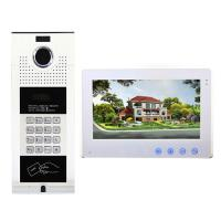 Quality 4 wired keypad silver apartment building video door phone waterproof outdoor station by remote door release for sale