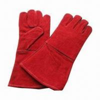 Buy cheap Welding Gloves, Cow Split Leather, AB and BC Grade from wholesalers