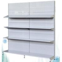 Quality Standard Size Single Faced Supermarket Display Racks 4 Layers For Vegetable for sale