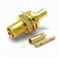 Buy cheap MCX Straight Bulkhead Jack RF Coaxial Connector for Mini Coaxial Cable, 50 ohms from wholesalers