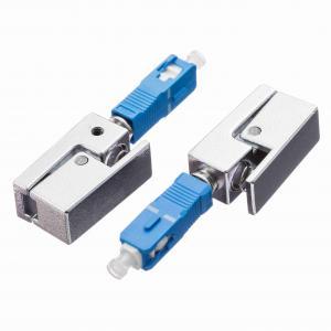 Quality SC Bare Fiber Adaptor Square Shape Single Mode UPC Polishing for sale