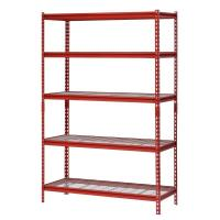 Quality Auto Repair Shop Adjustable Rivet Boltless Shelving With Wire Mesh Decking for sale
