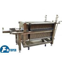 China Food Grade SS Plate And Frame Filter Press 0.3Mpa Pressure Type For Beverage Clarify on sale