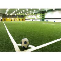 Quality Anti UV Artificial Turf Soccer Field / Synthetic Turf Field Olive Shape for sale