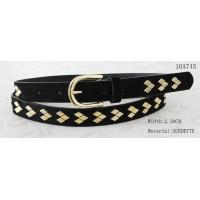 Quality Fake Suede Ladies Fashion Belts Ln Gold Color Of Rhombus Shape Metal & Buckle for sale