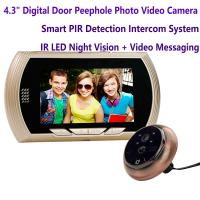 """Quality 4.3"""" Digital Door Peephole Viewer Photo Video Camera Recorder Home Security Smart PIR Video Doorbell IR LED Night Vision for sale"""