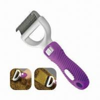 Quality De-matting Comb/Brush, Suitable for Dogs Cats and Pets with Patented Multi-angle Locking Handle for sale