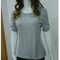 Buy Self Tape Grey Womens Casual Tops T Shirts , Fashion Smock T Shirt Tops at wholesale prices