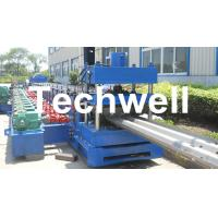 Quality 15KW Highway Guardrail Roll Forming Machine With 7 Rollers Leveling For W Beam Guardrail for sale