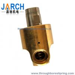 Threaded connection Heat Oil Hydraulic Rotary Union Single input / output line