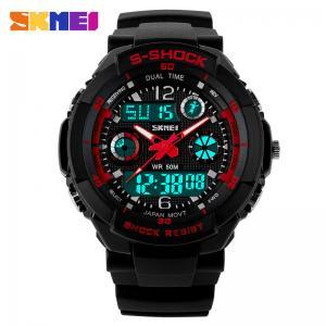 China 5 ATM Black Analog Digital Watch Hourly Chime Japanese Movement AL35 on sale