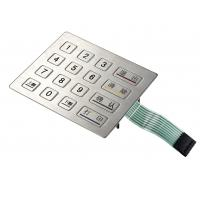 Best Rectangle Waterproof Metal pinpad for outdoor device with interface USB,PS/2 and RS232 wholesale