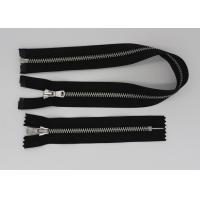 Auto Locking Slider Two Way Open Ended Zip , Novelty 2 Way Separating Zipper Metal  For Hoodies / Cardigan