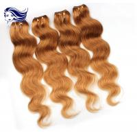 China Colorful Human Hair Extensions For Girls , Colored Real Hair Extensions on sale