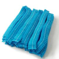 Quality PP Nonwoven Disposable Bouffant Caps , Colorful Disposable Scrub Caps for sale