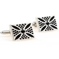 Quality White Nickel Free Stainless Steel Cufflinks With Die Casted And Plated Process for sale