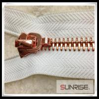 Quality High quality YKK 5# Metal zipper rose gold C/E rose sliders for jackets for sale