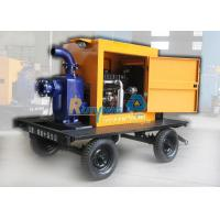 Best 12 Inch 150m3/h 20M HEAD Diesel centrifugal water pump with two wheel trailer wholesale