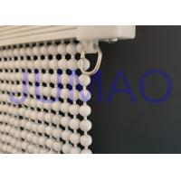 Quality Cream Color Steel Ball Chain Curtain Waterproof Entrances With Curved Track for sale