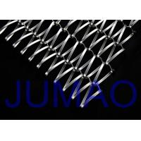 Quality Spiral Ceiling Decorative Wire Mesh Tensile Facades For Building Cladding for sale