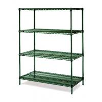 """Quality 18""""D Green Epoxy Commercial Wire Shelving Rack For High Moisture Wet Environment for sale"""