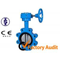 Quality Double Eccentric Gear Operated Butterfly Valve JIS With Pneumatic Actuator for sale