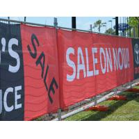 Quality Custom Made Mesh Vinyl Banners Printing for sale