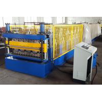 Quality Double Layer Metal Sheet Roll Forming Machine For Two Trapezoidal Profiles for sale
