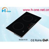 Best High Power 2 Zone Electric Induction Cooker , Dual Burner Induction Cooktop 3000W wholesale