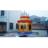 China Birthday Party Cake Inflatable Bounce House Anti - Static Inflatable Playhouse on sale