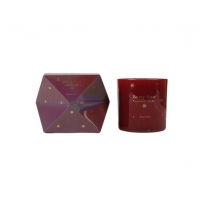 Quality Foil Gold Christmas Glass  Irregular Scented Jar Candles for sale