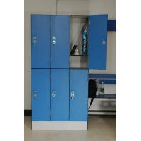 6 Door Compact Laminate Locker with Bench for GYM for Sauna Center