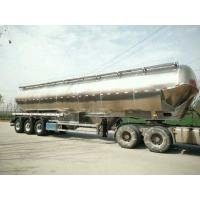 Quality 55cbm Flour Tank Semi Trailer Three Axles Stainless Steel Material for sale