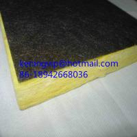 Buy cheap Fiberglass wool board with black backing felt on one side from wholesalers